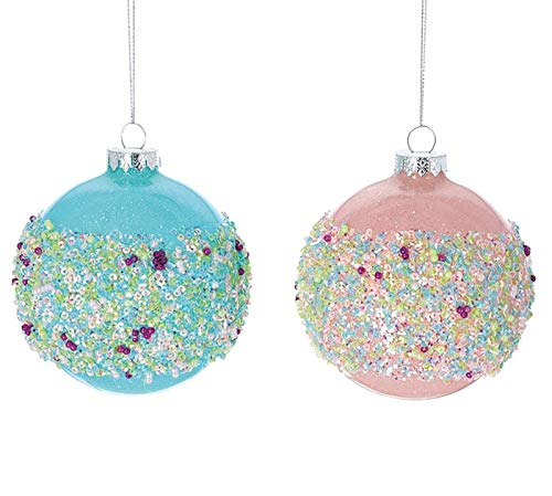 burton+BURTON Pink and Blue Glass Ornaments