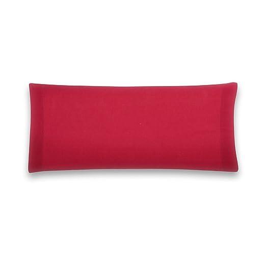 Sancarlos - Funda de almohada para cama, 100% Algodón percal, Color rosa, Cama de 90 cm
