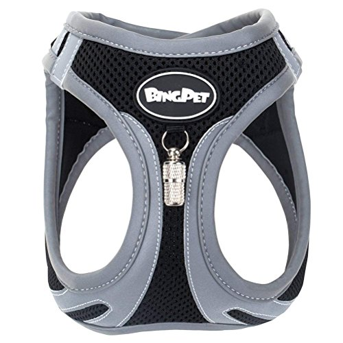 rness No Pull - Reflective Adjustable Puppy Harnesses - Padded Step in Choke Free Vest ()