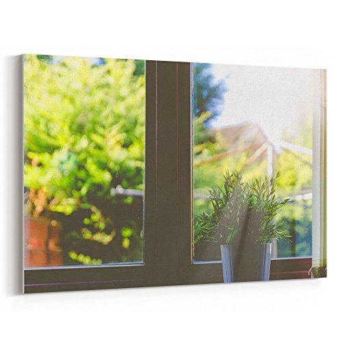 Westlake Art - Window Plant - 24x36 Canvas Print Wall Art -