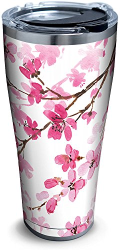 Tervis 1261350 Cherry Blossom Stainless Steel Tumbler with Clear and Black Hammer Lid 30oz, ()