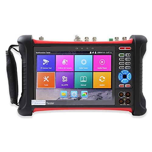 Wsdcam 7 Inch Retina Display IP Camera Tester Security CCTV Tester CVBS Monitor Analog Tester with SDI/TVI/AHD/CVI/DMM/TDR/Optical Power Meter/VFL/POE/WIFI/4K H.265 Upgraded X7-MOVTSADH by wsdcam