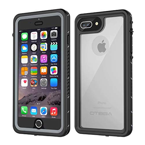 iPhone 7 Plus/8 Plus Waterproof Case, OTBBA Underwater Snowproof Dirtproof Shockproof IP68 Certified with Touch ID Full Sealed Cover Waterproof Case for iPhone 7 Plus/8 Plus-5.5in (Clear)