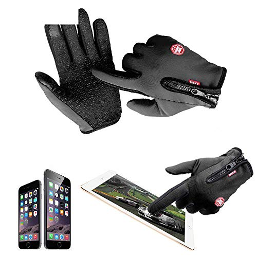 (Full Sports Motorcycle M Hot Glove Screen Outdoor XL Ski Riding Car-Styling Finger Windstopper Warm Size Gloves Gloves Touch L XL)