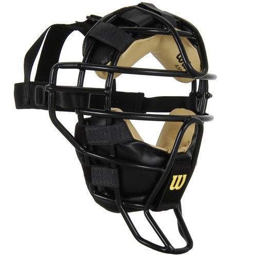 Wilson Dyna-Lite Steel Cage Two Tone Black and Leather Umpire's ()