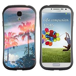 """Hypernova Slim Fit Dual Barniz Protector Caso Case Funda Para SAMSUNG Galaxy S4 IV / i9500 / i9515 / i9505G / SGH-i337 [Árboles Magia Cielo Verano""""]"""