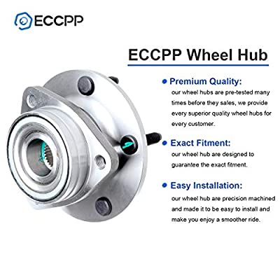 ECCPP Wheel Hub and Bearing Assembly Front 513017 fit Replacement for 1984-2005 Chevrolet Buick Cadillac Pontiac 5 Lugs Wheel Bearing Hubs without ABS 1 pcs: Automotive