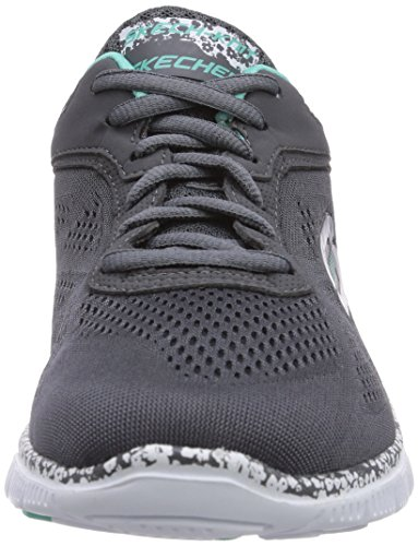 Skechers Womens FLEX APPEAL-ISLAND STYLE Running Shoes Gray/White MT2xgH