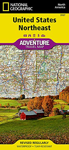 United States, Northeast (National Geographic Adventure Map) (Road Map Of East Coast United States)