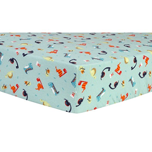 Trend Lab Dinosaurs Deluxe Flannel Fitted Crib Sheet