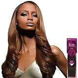 Velvet Remi Human Hair Weave - Yaki Weaving (20 Inch, 1 - Jet Black)