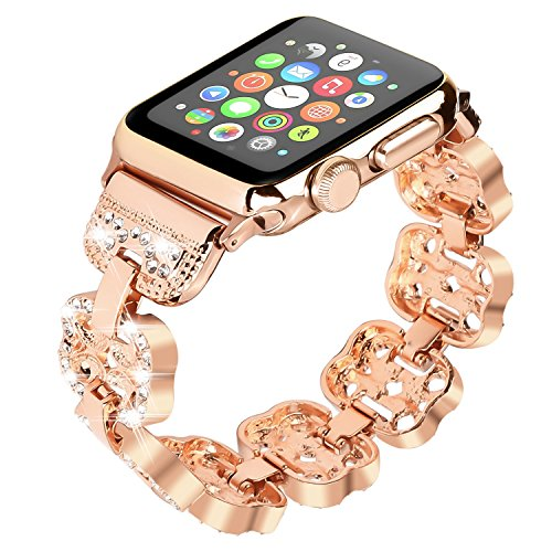 Apple iWatch band with bling