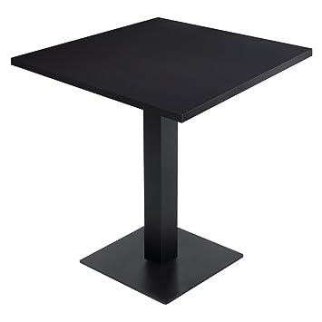 ggm gastro meubles table de bistrot noir 70 x 70 cm armature de table noir