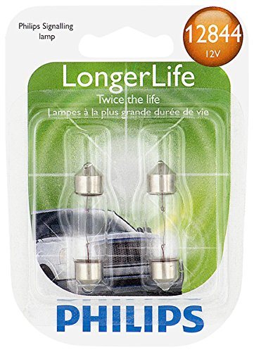 Philips 12844 LongerLife Miniature Bulb, 2 Pack