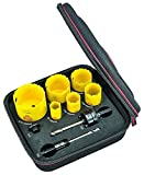 Starrett KDC06042-N DCH Deep Cut Electricians Kit with 6 Holesaws and 3 Accessories