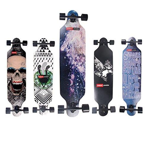 Sale!! MAGIC UNION 41 Inch Maple Drop Down Longboard Complete Skateboard