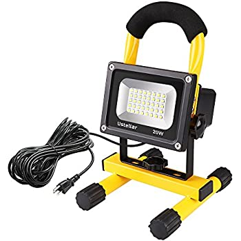 Designers Edge L860 Portable Halogen Work Light Orange