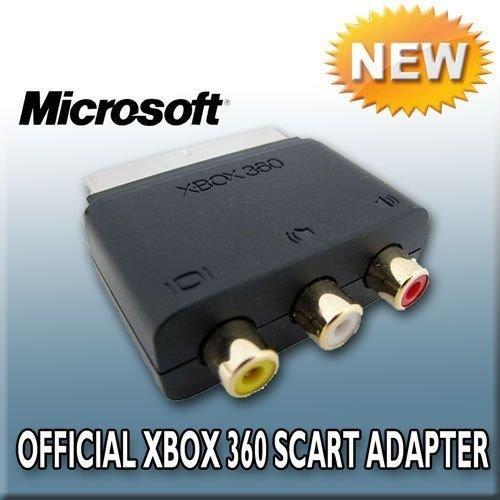 Auténtica Microsoft Xbox de Audio y vídeo RCA a Euroconector bloque de adaptador - 3 x