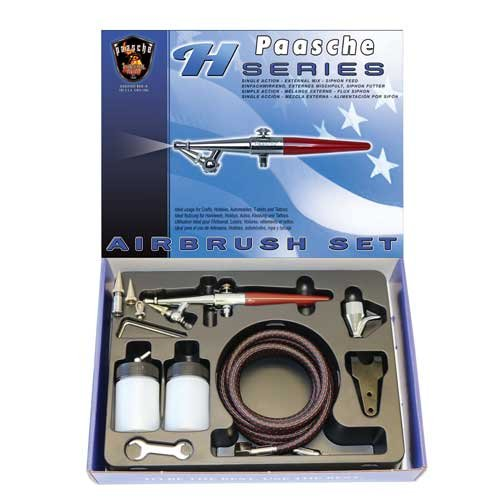 Paasche H-SET Single Action Siphon Feed Airbrush