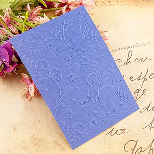 Welcome to Joyful Home 1PC Leaves Background Background Embossing Folder for Card Making Floral DIY Plastic Scrapbooking Photo Album Card Paper DIY Craft Decoration Template Mold 10.5x14.5cm