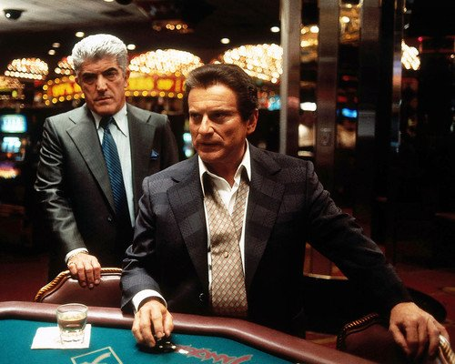 Joe Pesci and Frank Vincent in Casino at tables 16x20 Poster