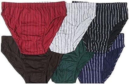 Amazon.com: Knocker Mens Bikini Briefs Boxer Underwear Stripe (6 Pack):  Sports & Outdoors