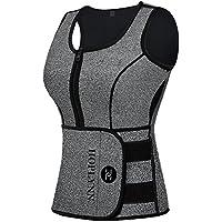 HOPLYNN Neoprene Sauna Sweat Vest, Waist Trainer Corset Slimming Vest For Women Weight Loss With Adjustable Waist Shaper Belt