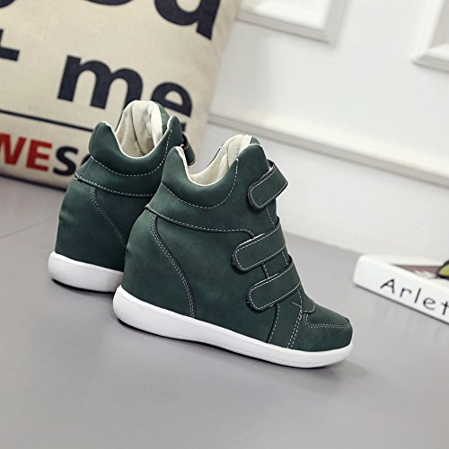 Rubber Top U MAC Sole Wedge Slip Womens Shoes Platform Sneakers High Casual Green Fashion Anti Sneakers TWvnXWq4
