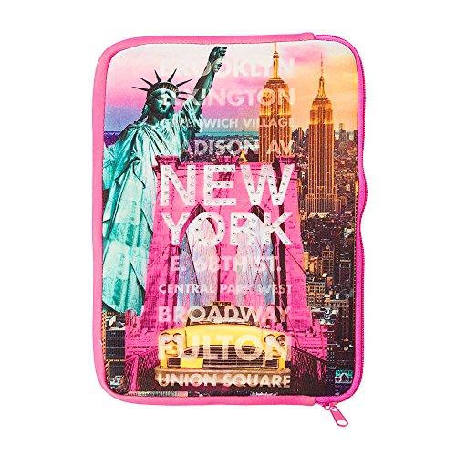 Neoprene Zip Rhinestone Applique New York NYC iPad / iPad (Claires Rhinestone)