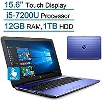 HP Pavilion 15.6'' Touchscreen HD SVA (1366x768) Laptop PC, Intel Core i5-7200U 2.5GHz Processor, 12GB DDR4 SDRAM, 1TB HDD, DTS Studio Sound, DVD +/- RW, Windows 10 - Noble Blue