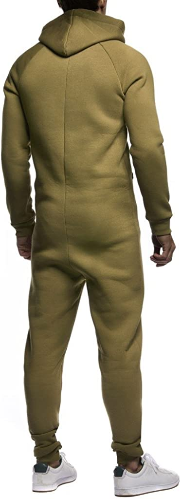 Leif Nelson Men Jumpsuit Hood LN-8154