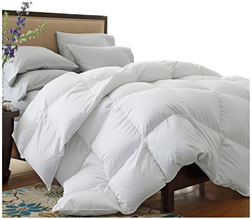 Superior Solid White Down Alternative Comforter, Duvet Insert, Medium Weight for All Season, Fluffy, Warm, Soft & Hypoallergenic - Twin/Twin XL Bed - Twin Down Comforter Xl