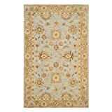 """Safavieh Antiquities Collection AT856B Handmade Traditional Oriental Light Blue and Sage Wool Area Rug (8′ 3 """" x 11′) Review"""