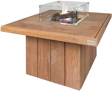 Easyfires Mesa para hoguera Excellent cuadrada sobre fogón de ...