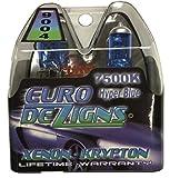silver star headlights 9004 - EuroDezigns 9004 White / Blue Headlights - Dual High/Low 7500k Xenon-Krypton HID Halogen Replacement Bulbs - (Pair)