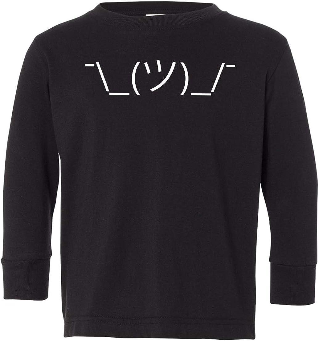 Tenacitee Toddlers Shrug Emoji Long Sleeve T-Shirt