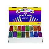 Colorations CLBIG16 Large Crayons 16 Colors (Pack of 400)