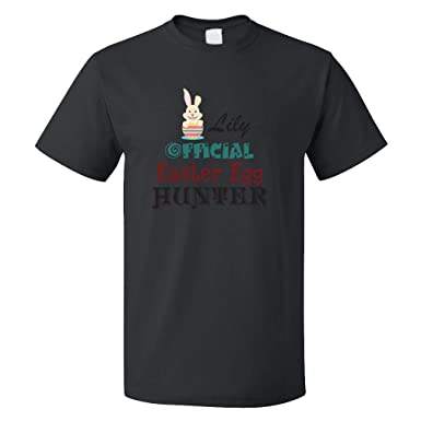 Amazon.com: Personalized Custom Official Easter Egg Hunter1 Adult T-Shirt Tee Top: Clothing