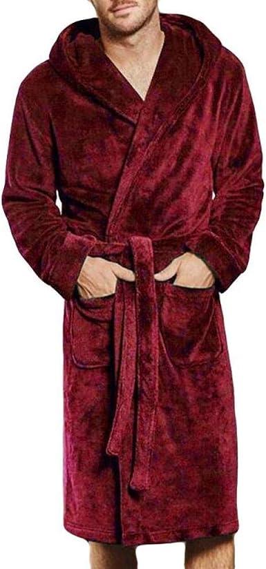 TYFEI Albornoz con Capucha de algodón para Hombres y Mujeres ...