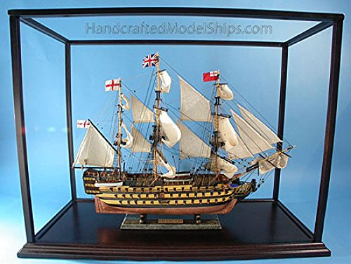 Handcrafted Nautical Decor Rosewood Display Case 33 L x 14 W x 25 H Model Ship Display Case Display Cases 1174