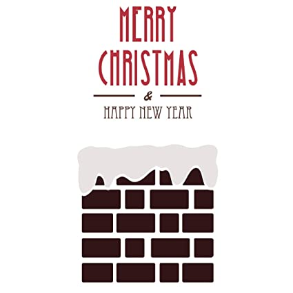 Amazon Com Homefind Merry Christmas Happy New Year Art