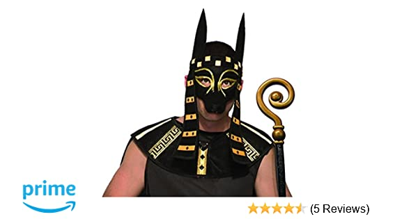 Amazon.com: Forum Novelties Mystical Creature Anubis Mask Mens Costume Accessory Black Dog Egyptian Roman: Clothing