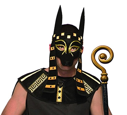 Mystical Creature Anubis Mask Men's Costume Accessory Black Dog Egyptian (Anubis Halloween Costume)