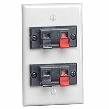 Leviton 40952–2PW 1 Gang Doppel Spring Clip Gerät Audio/Video ...