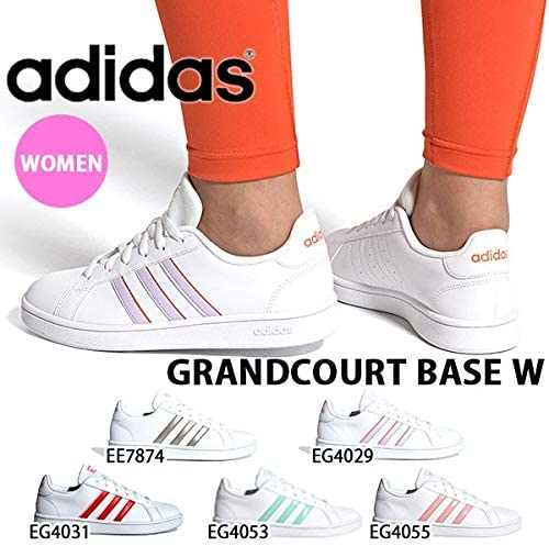 Adidas Grand Court Base, Soccer Shoe Womens, FtwblaMatpurMatamb