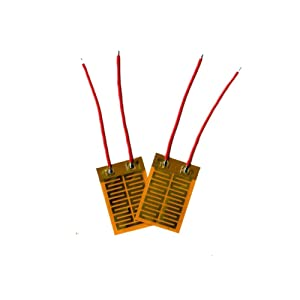 Taidacent 10 Pcs Thin Film Heater Hand Warmer Heating Sheet 4040 Film Polyimide PI Heating Film Polyimide Film Heater