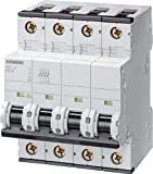 Siemens 5SY46508 Supplementary Protector, UL 1077 Rated, 3 Pole Breaker + Neutral, 50 Ampere Maximum, Tripping Characteristic D