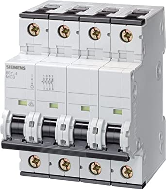 Neutral 4 Ampere Maximum 3 Pole Breaker Tripping Characteristic A Siemens 5SY46045 Supplementary Protector UL 1077 Rated