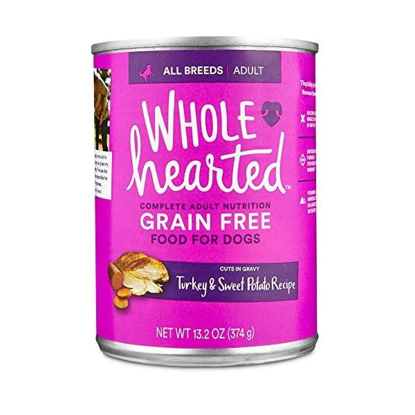 WholeHearted Grain Free Adult Turkey and Sweet Potato Recipe Wet Dog Food, 13.2 oz, Case of 12, 12 X 13.2 OZ
