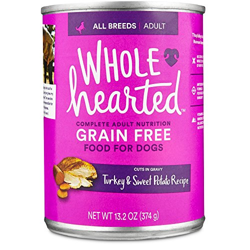 WholeHearted Grain Free Adult Turkey and Sweet Potato Recipe Wet Dog Food, 13.2 oz., Case of 12 by WholeHearted